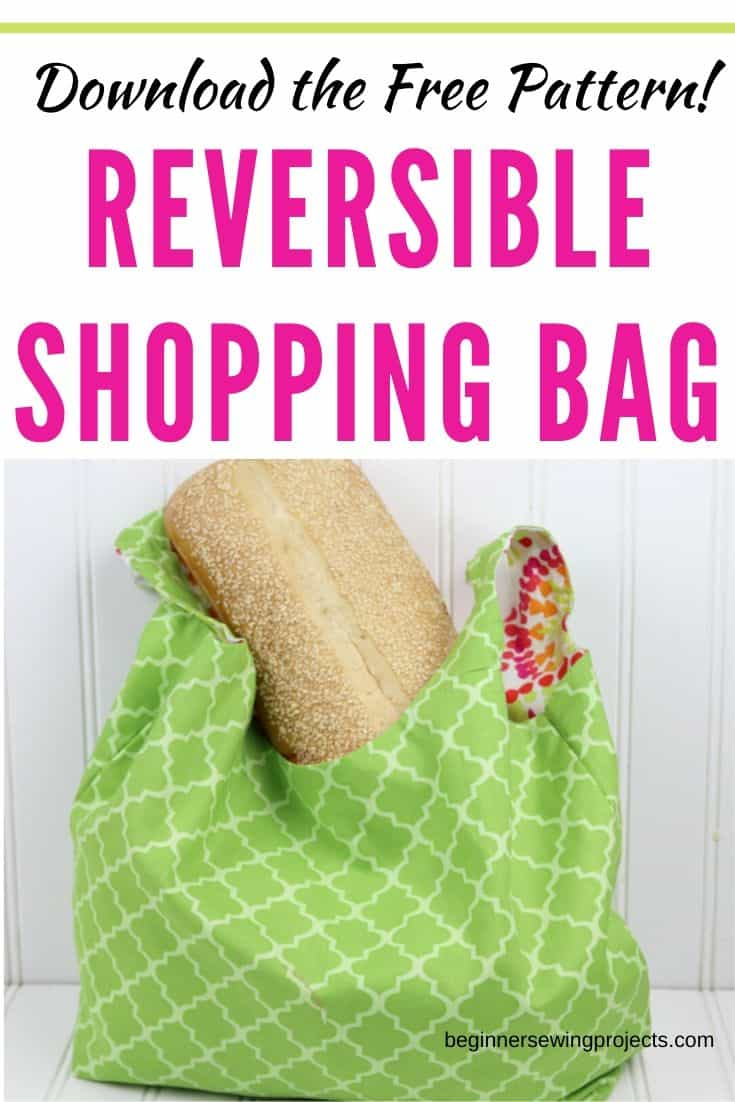 Sew a reversible shopping bag by downloading the free pattern and following the step by step instructions with photos. I want to make a bunch of these in fun colors!
