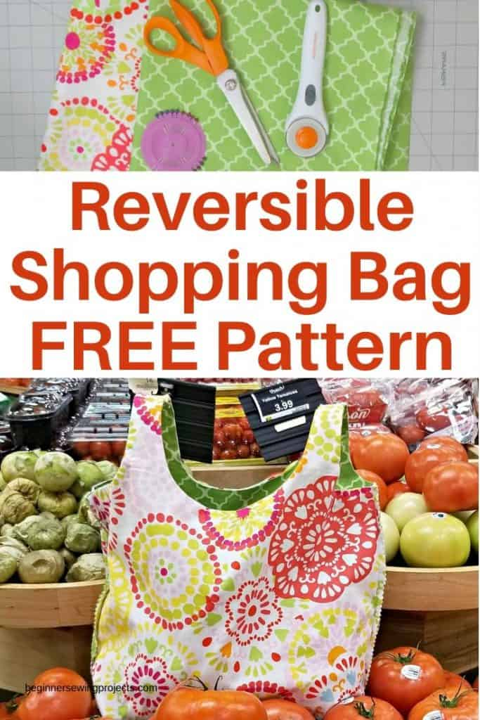 Reversible Shopping Bag Free Pattern