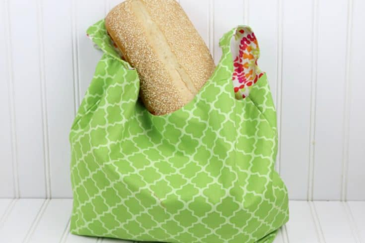 Reversible Shopping Bag Pattern - It's free!