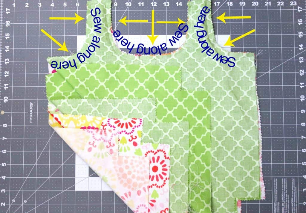 Reversible Shopping Bag Step 4