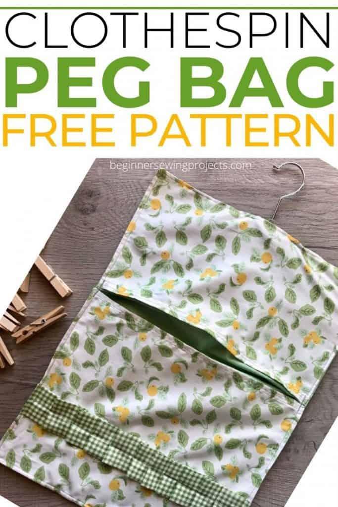 Clothespin Bag Pattern Peg Bag Sewing Pattern