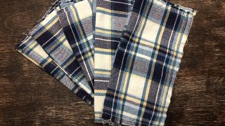 Upcycled Flannel Hankies