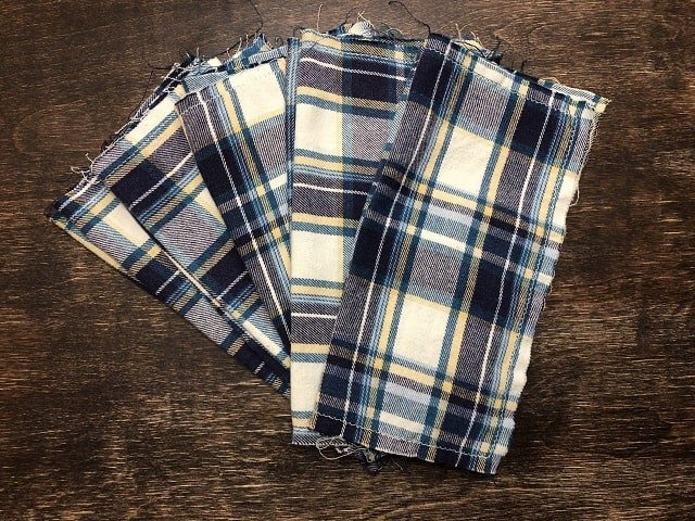 Upcycled Flannel Hankies – Beginner Sewing Projects