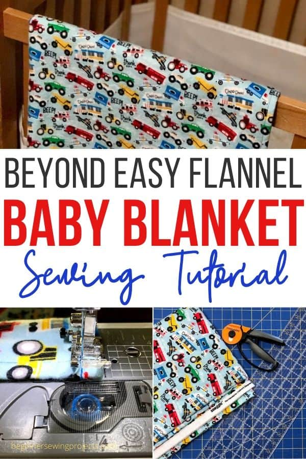 Easy Flannel Baby Blanket Sewing Tutorial