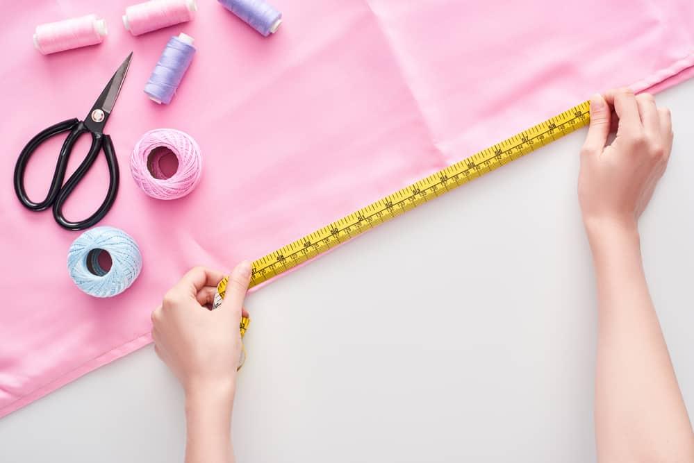 Measuring Pink Fabric