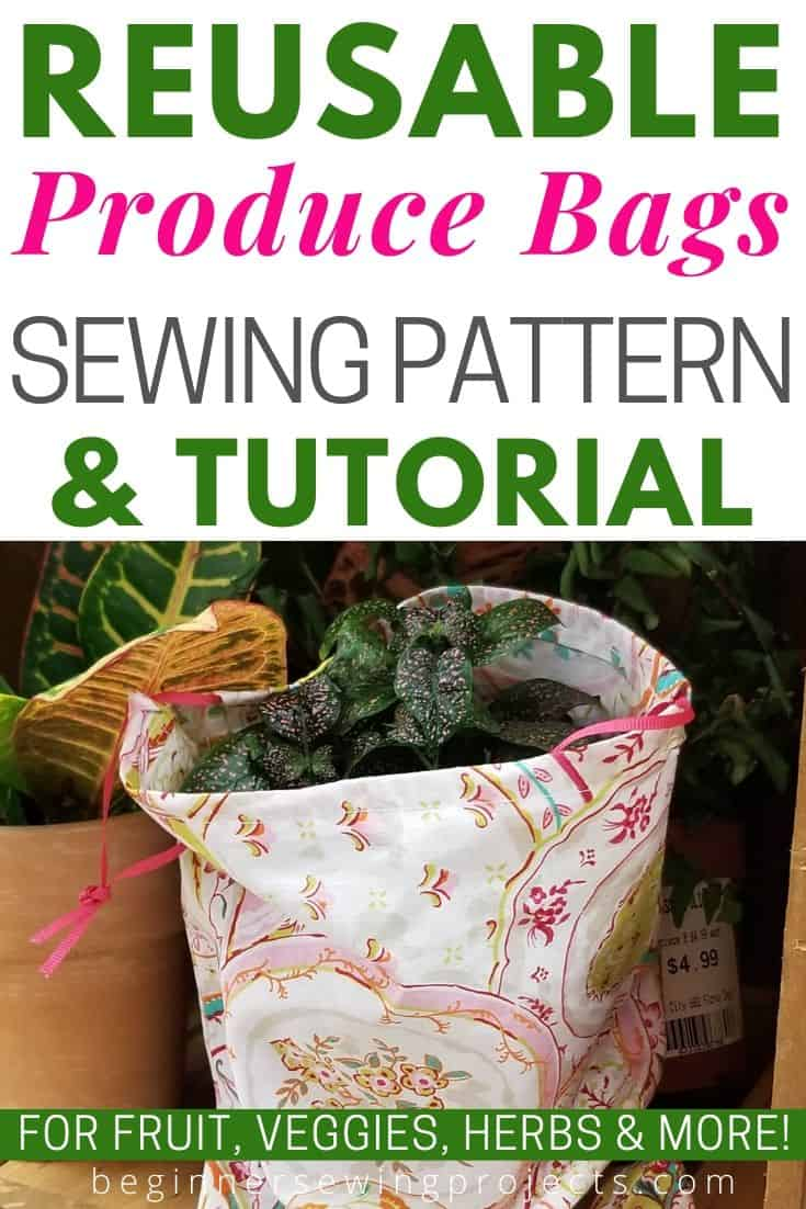 Reusable Produce Bags Tutorial - These are really easy to make and have significantly reduced my grocery shopping waste. Love them! #zerowaste