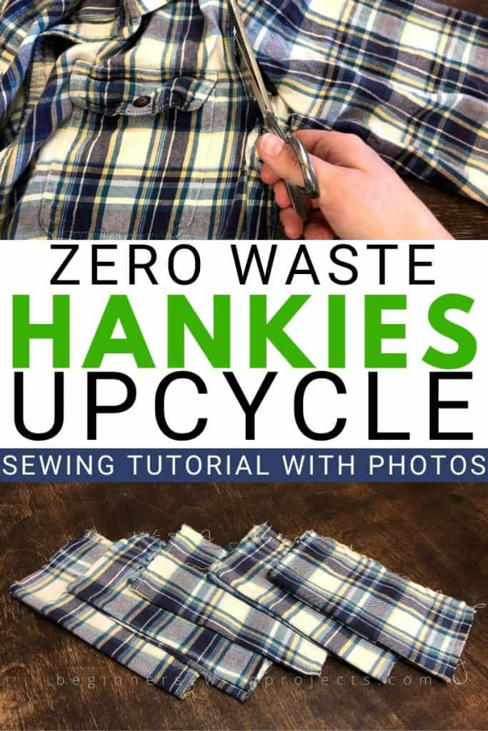 Zero Waste Hankies Upcyle Flannel Shirt Sewing Project
