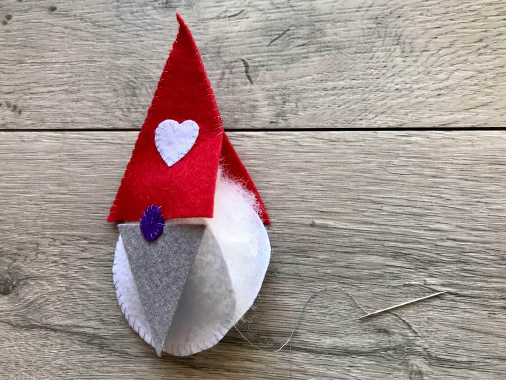Step 16 Stitched Felt Gnome with Stuffing