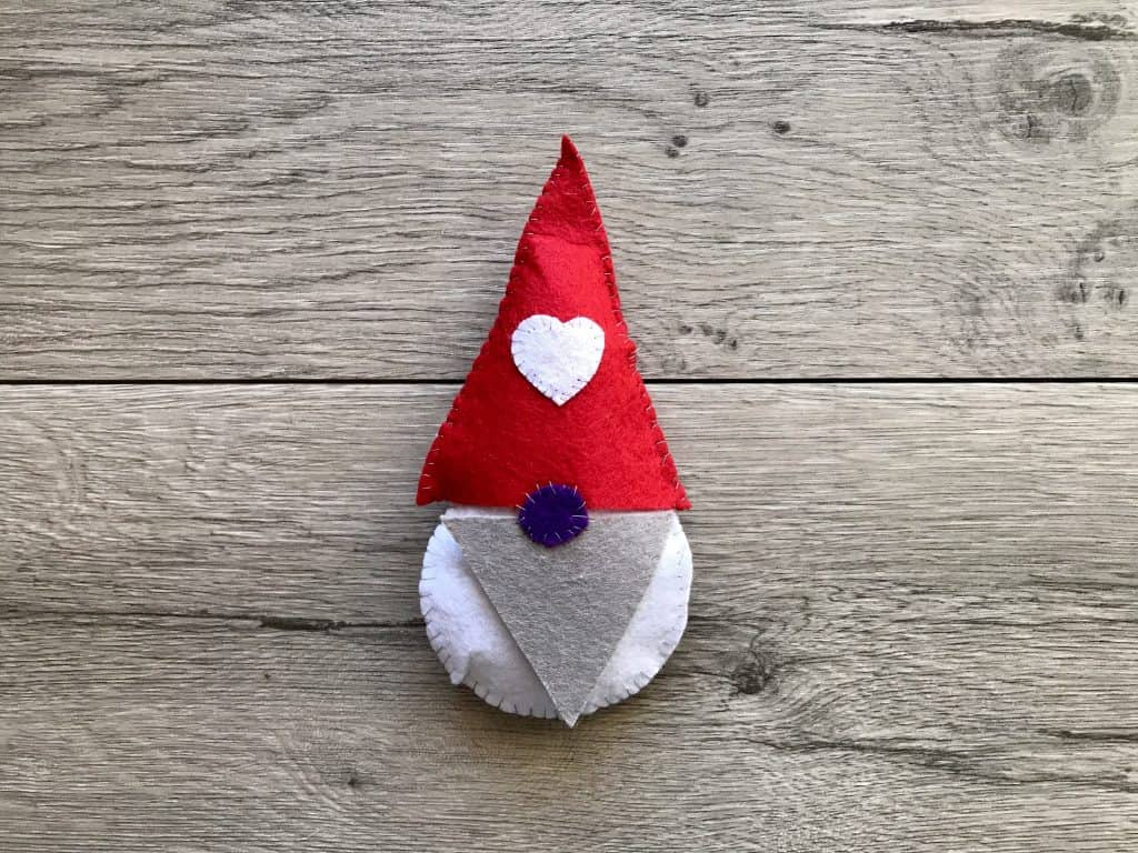 Step 17 Stitched Felt Gnome