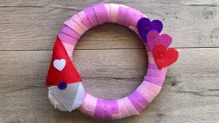 Valentine's Day Gnome Wreath
