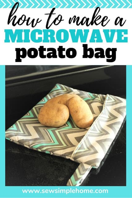 How to Make a Microwave Potato Bag + Free Sewing Pattern