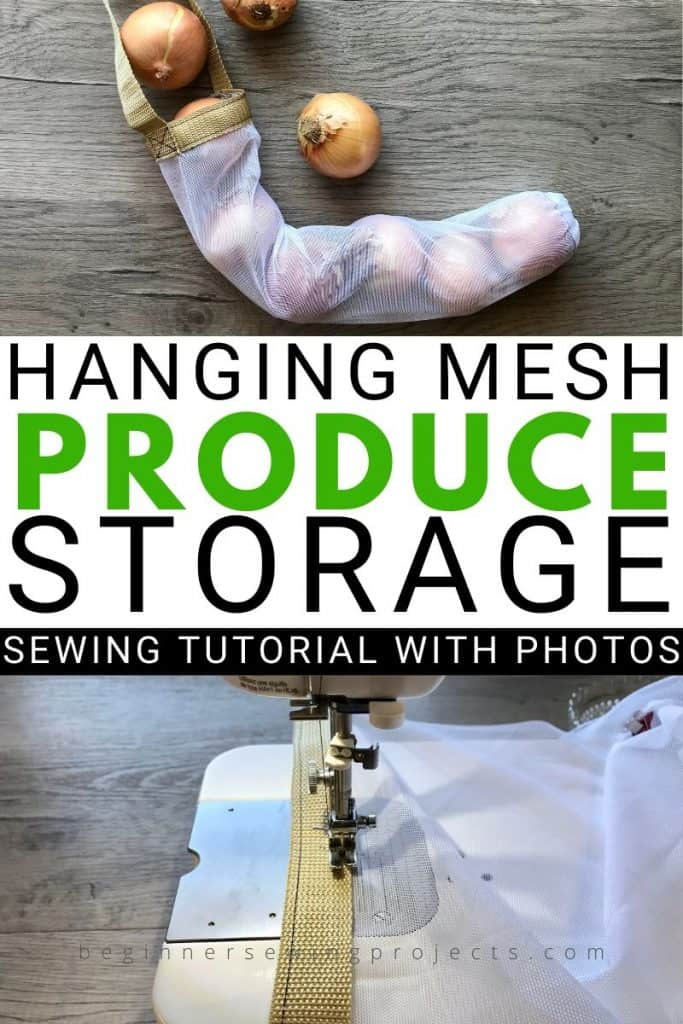 Hanging Mesh Produce Bags for Storage Sewing Project DIY