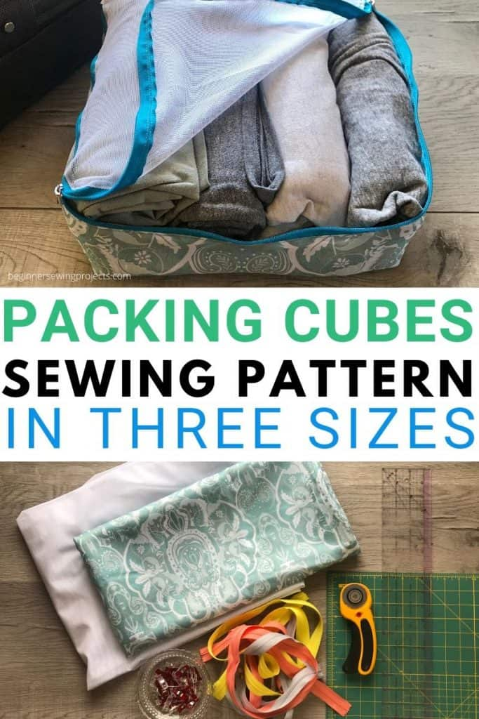 Packing Cubes Sewing Pattern in 3 Sizes Upcycle