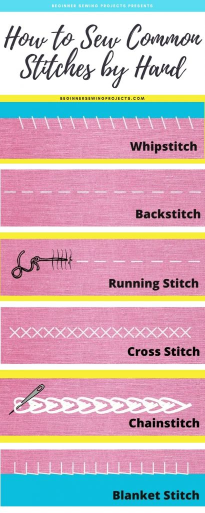 Common Hand Stitches Infographic