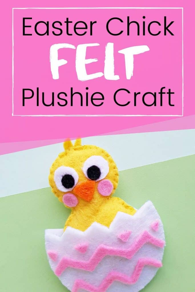 Easter Chick Plush Craft