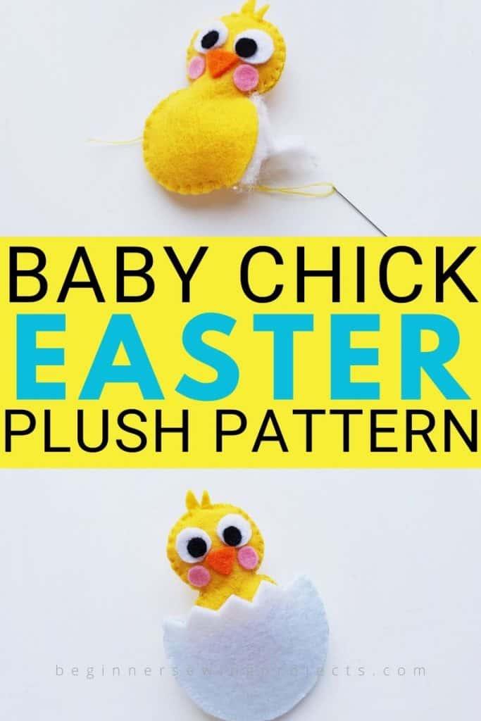 Easter Chick Felt Plush Pattern