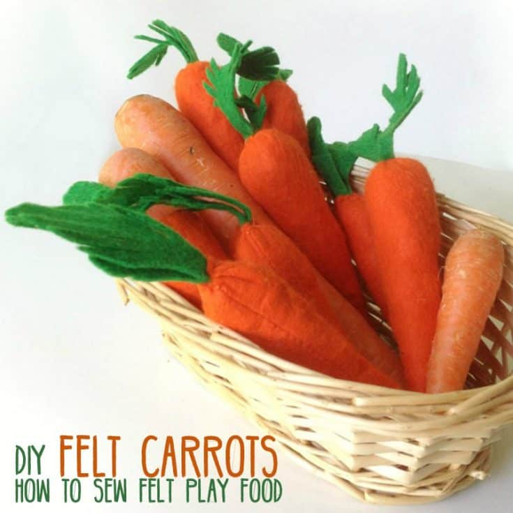 Felt Carrot Pattern - Free Template