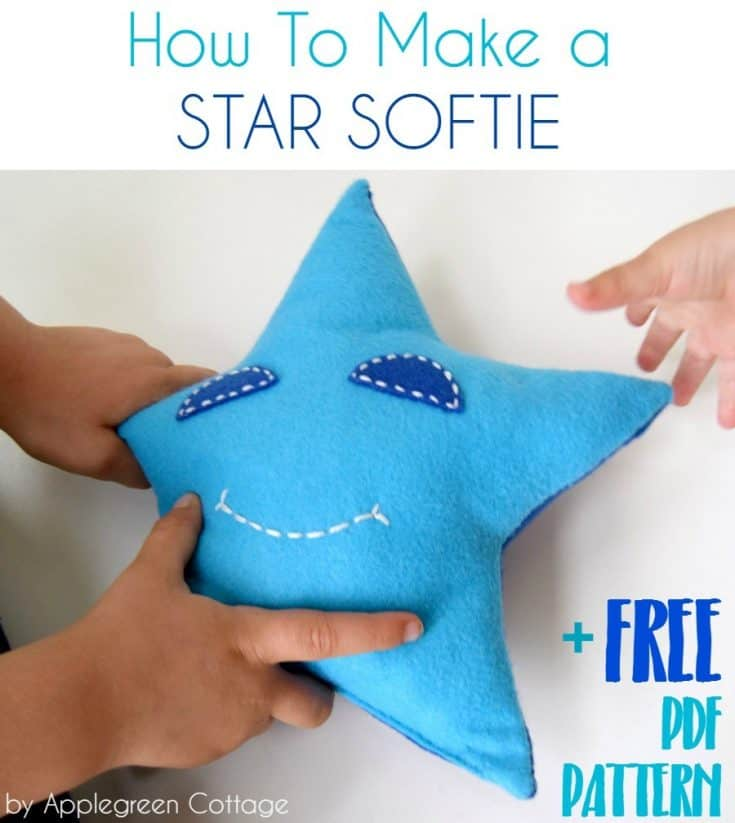 Star Sewing Pattern - Freebie in 3 Sizes