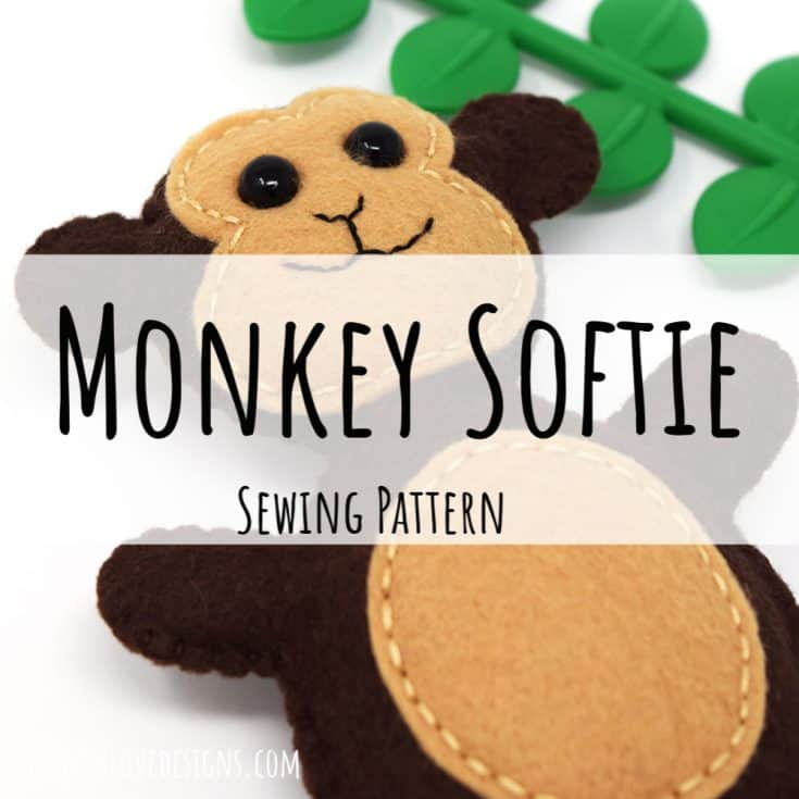 Mini Monkey Softie {Free Pattern + Tutorial}