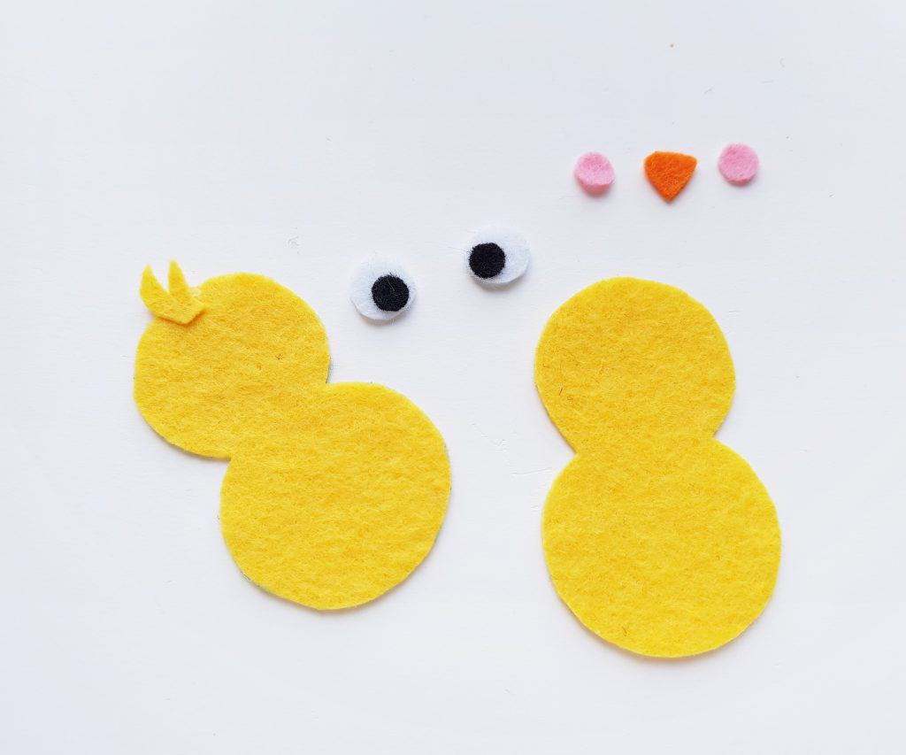 Assemble Felt Chick Pieces