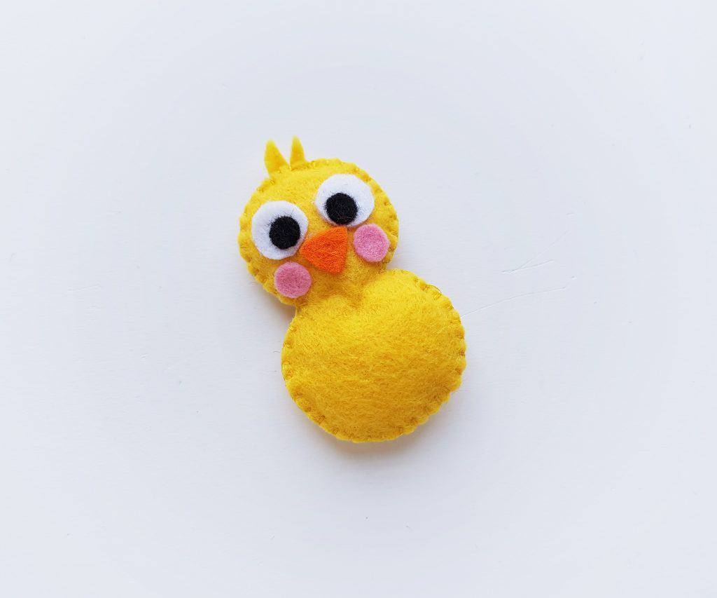 Completed Easter Chick Felt Plush