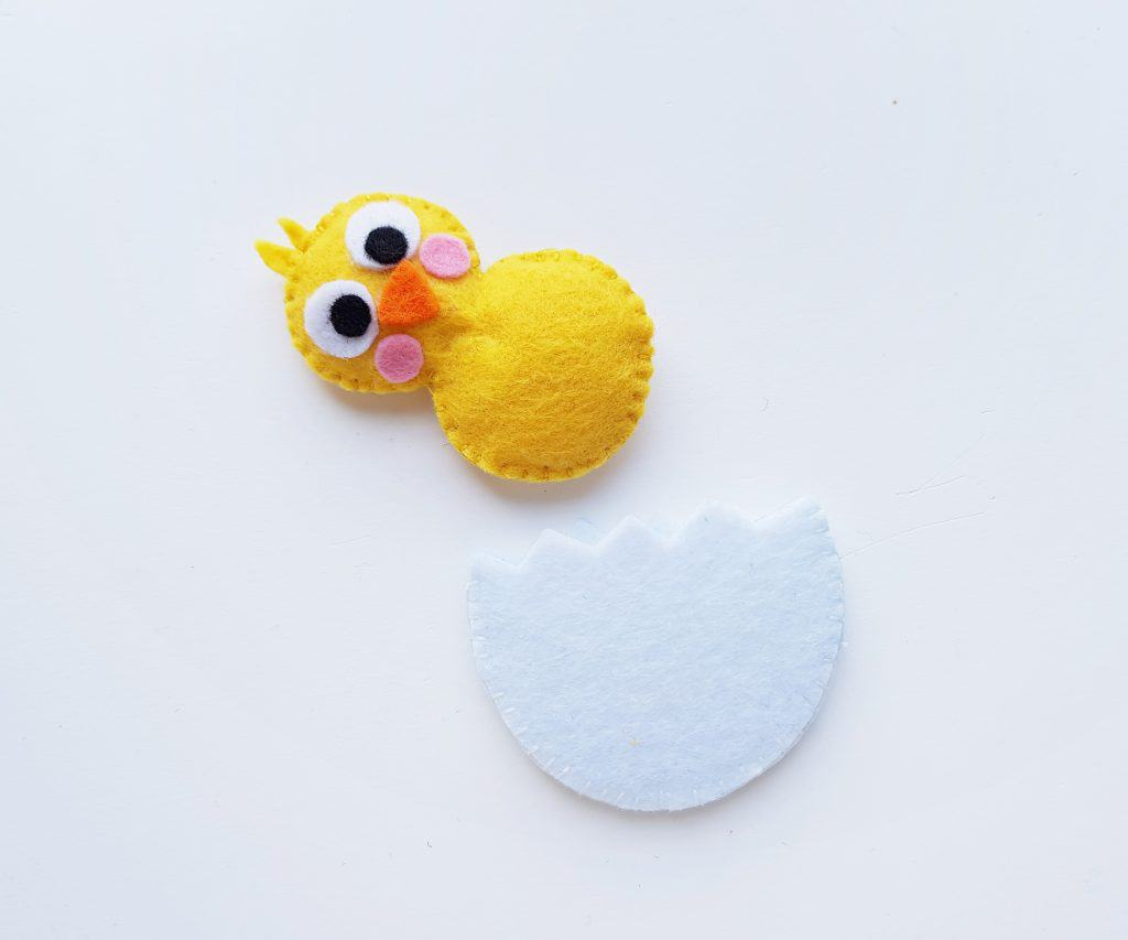 Felt Chick and Egg