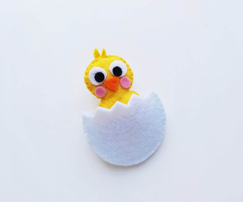 Felt Chick in Egg