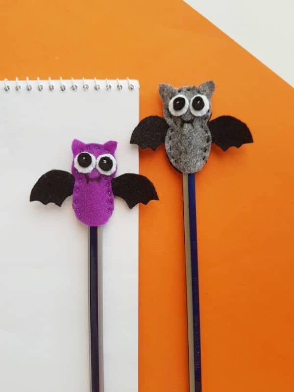 Bat Pencil Topper Halloween Felt Craft