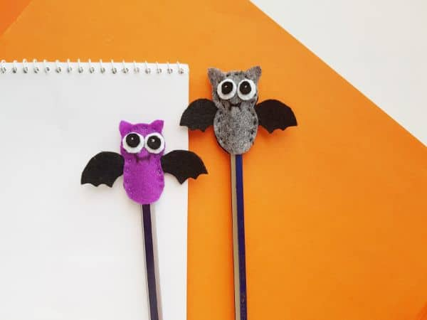 Bat Pencil Topper Halloween Craft