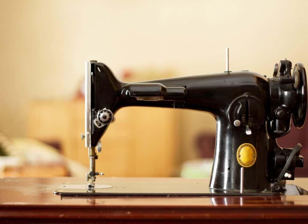 Black vintage sewing machine