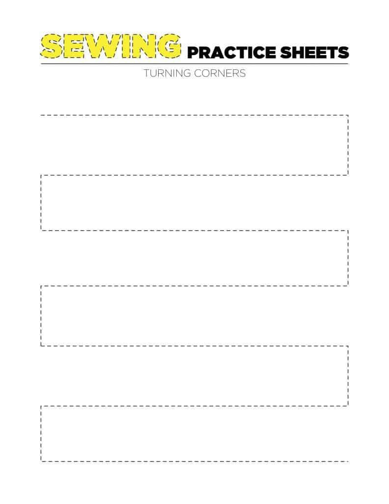Sewing Practice Sheet 2 - Turning Corners