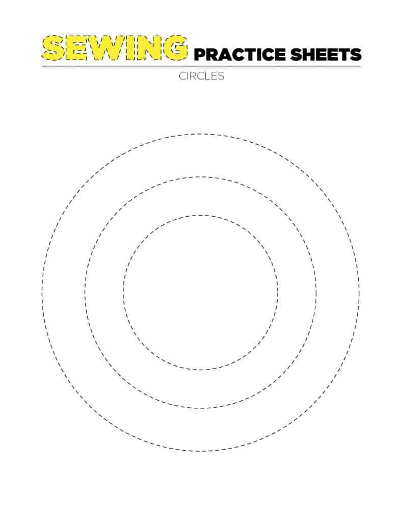 Sewing Practice Sheet 4 - Circles