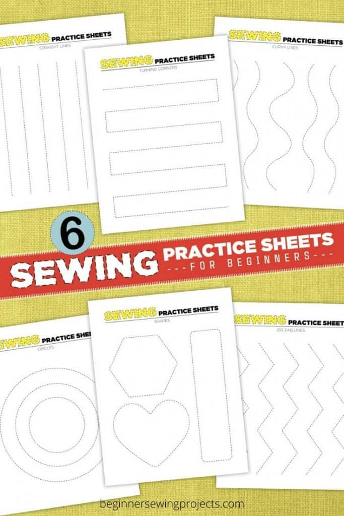 Mock-up of Printable Sewing Practice Sheets