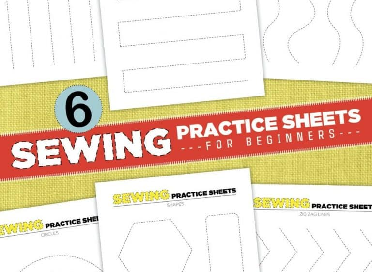 Printable Sewing Practice Sheets – Beginner Sewing Projects