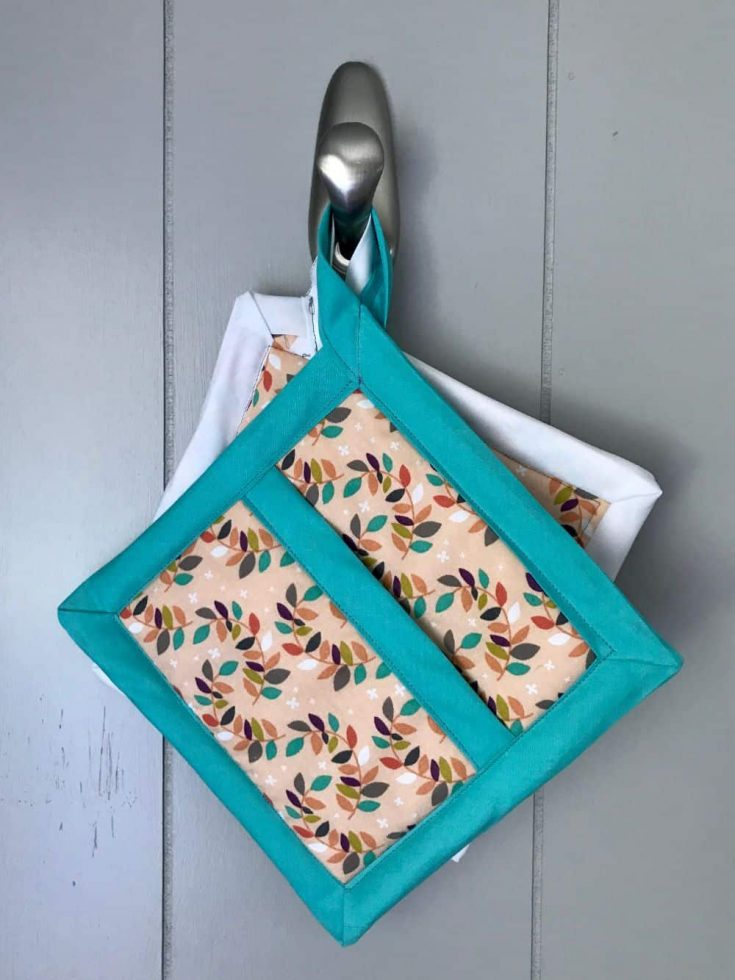 Easy Square Pot Holders with Pockets