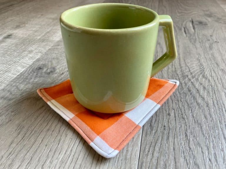Easy Fabric Coasters – Beginner Sewing Projects