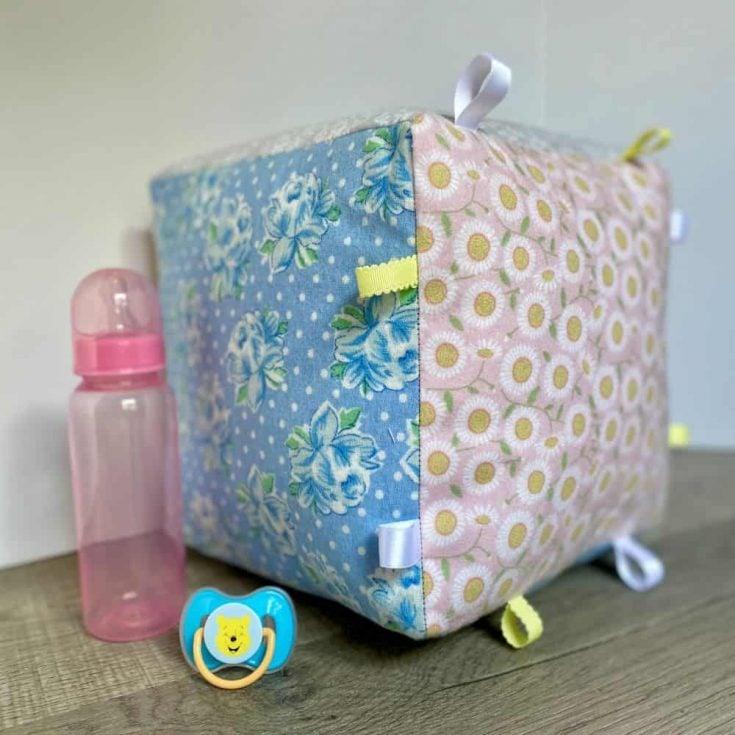Large Baby Block Rattle