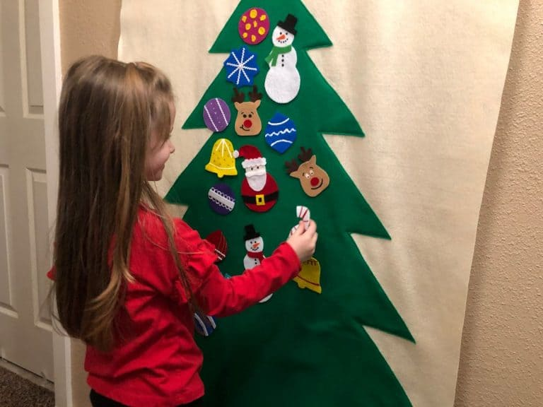 Hanging Felt Christmas Tree and Ornaments for Kids – Beginner Sewing Projects