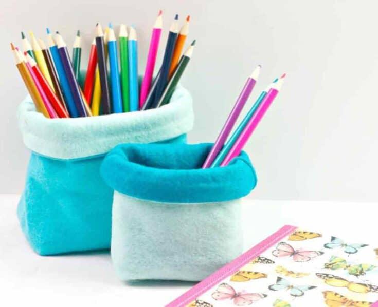 Easy Sew Felt Pencil Holder Create card