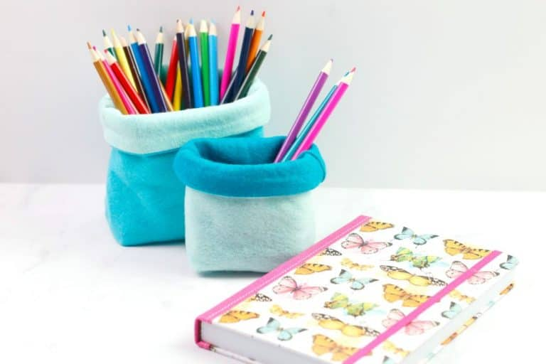 Quick to Sew Pencil Holder – Beginner Sewing Projects