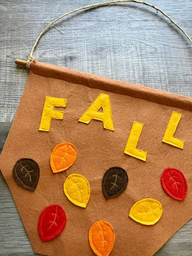 Fall Leaves Banner with Template