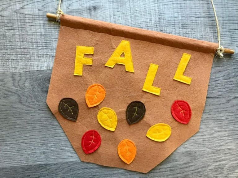 Fall Leaves Banner with Template – Beginner Sewing Projects