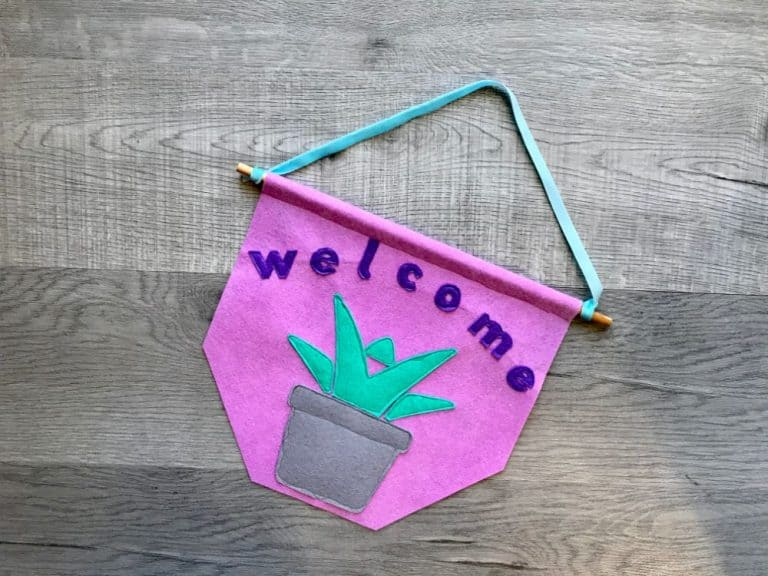 Succulent Welcome Banner – Beginner Sewing Projects