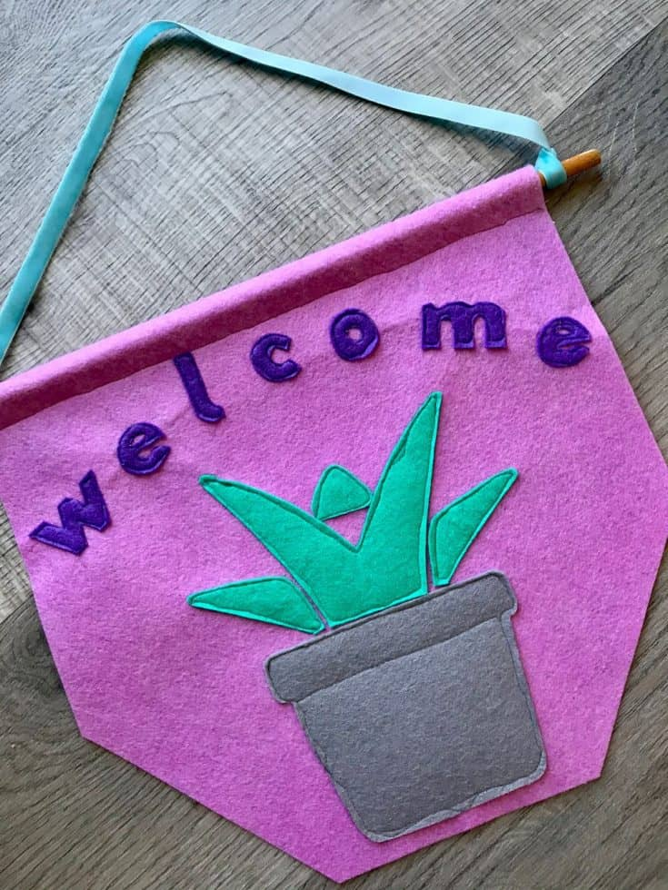Succulent Welcome Banner