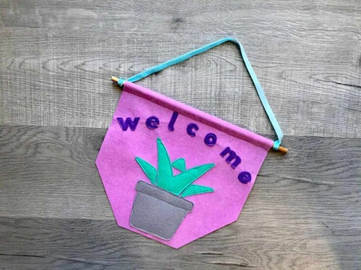 Succulent Welcome Banner Create Card
