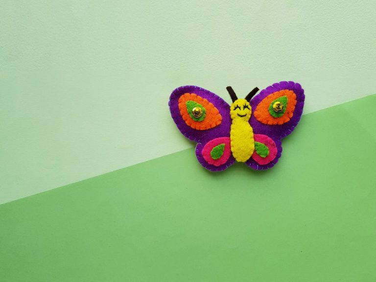 Felt Butterfly Plush Template – Beginner Sewing Projects