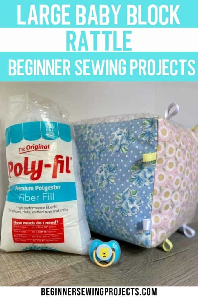Large Baby Block Rattle Sewing Tutorial - Beginners Sewing Projects