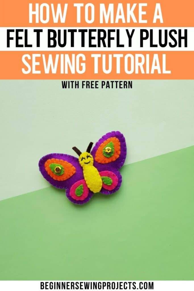 How To Make A Butterfly Felt Plush WIth Free Pattern