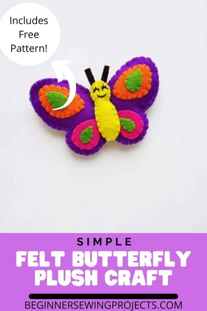 Simple Felt Butterfly Plush Craft
