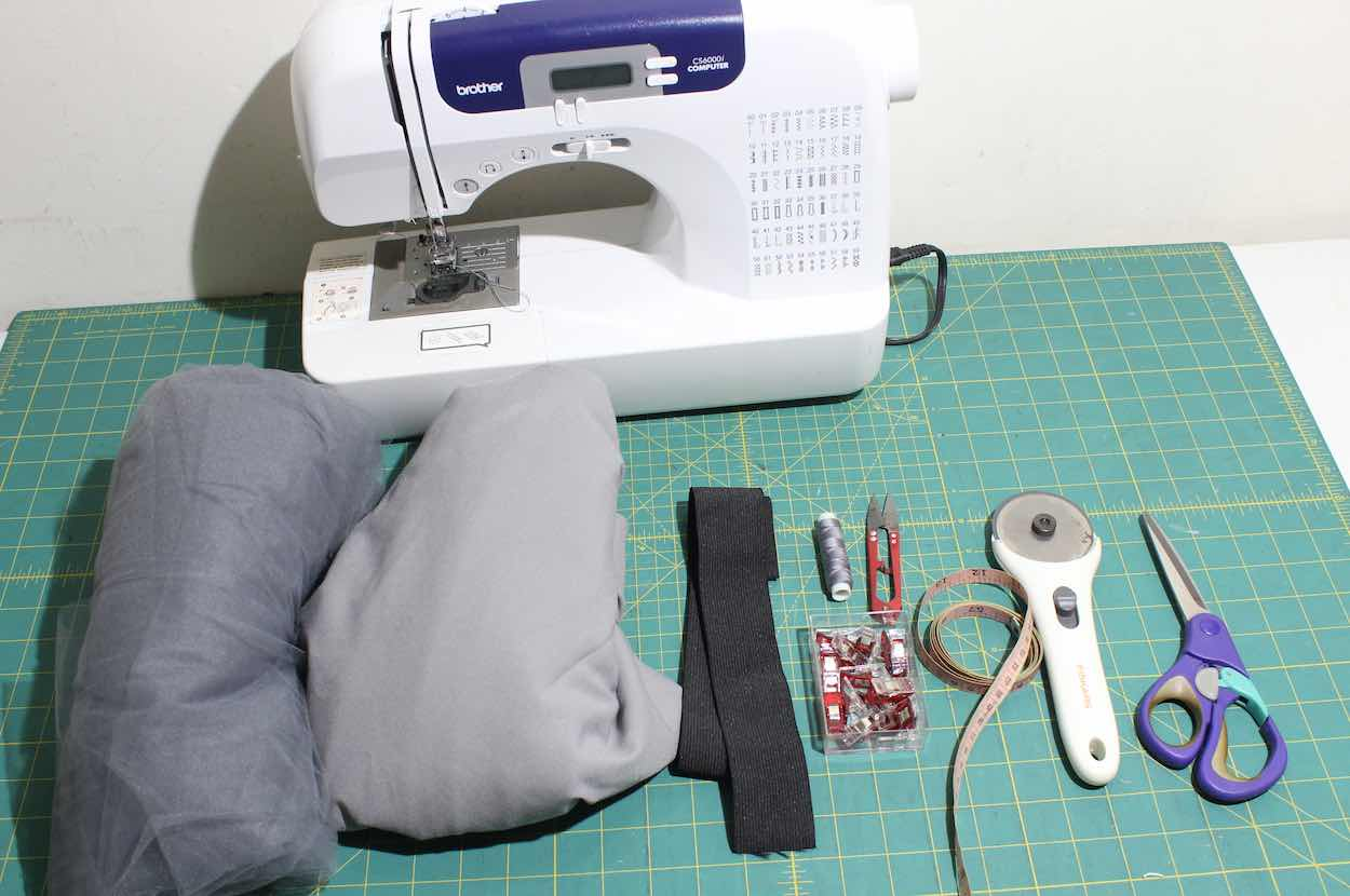 Beginner Sewing Projects Sewing Machine Scissors and Fabric